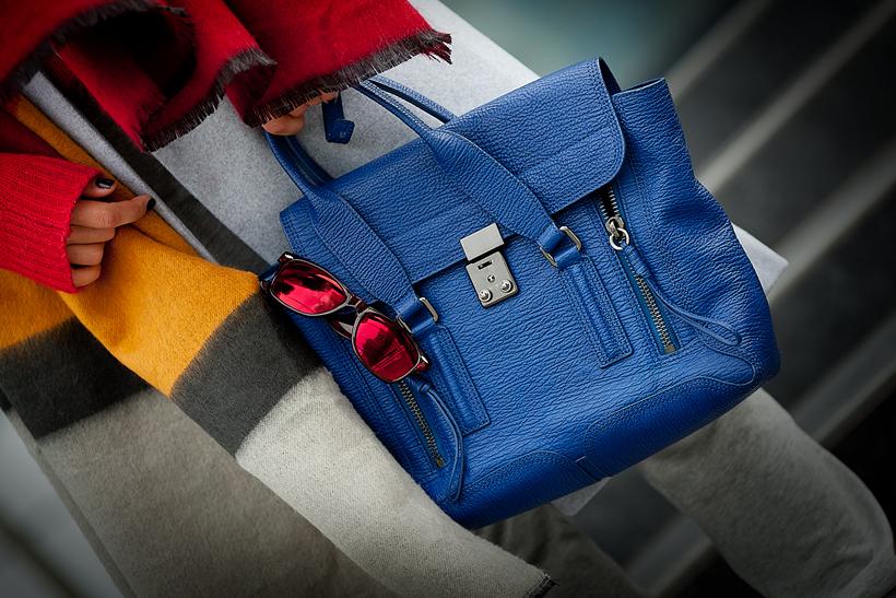 3.1 Phillip Lim blue medium Pashli satchel, GalantGirl