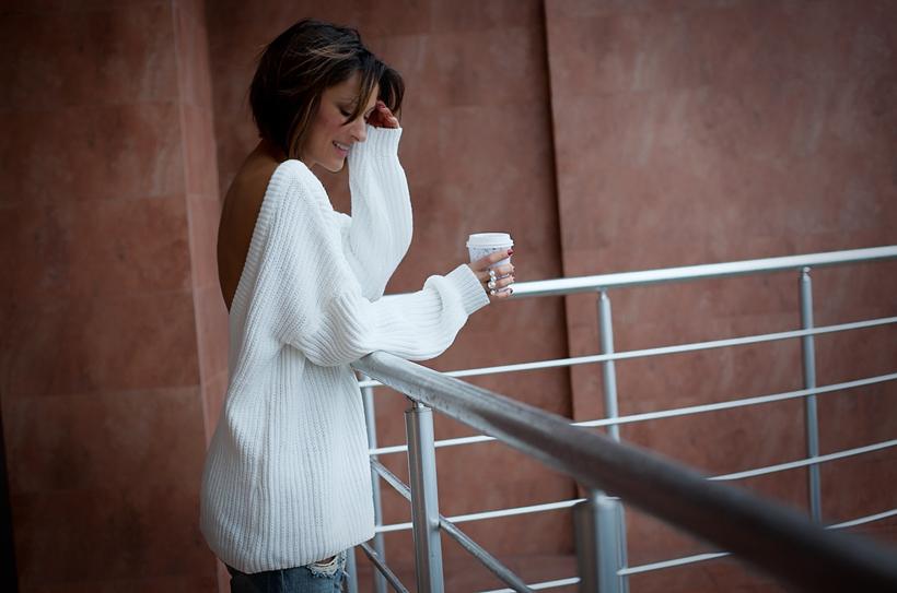 open back sweater, Galant girl, fashion blog,