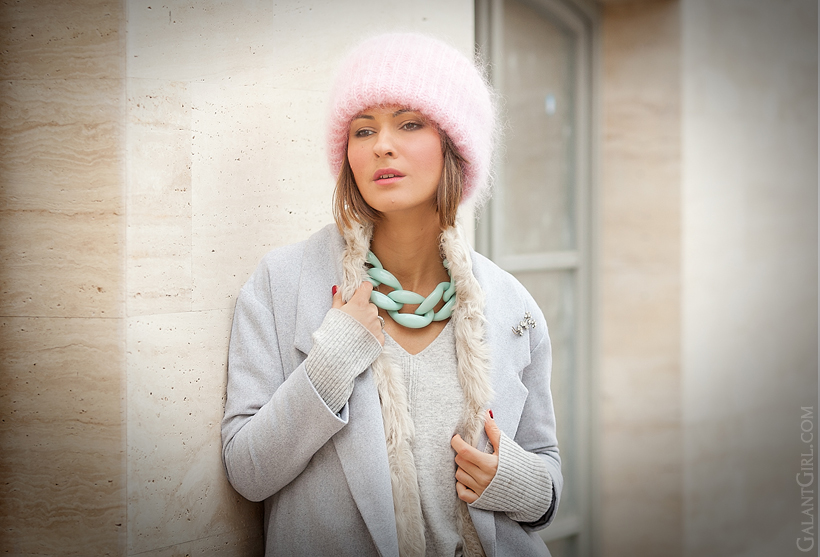 diana broussard necklace, tak.ori beanie, pastel outfit, galant girl