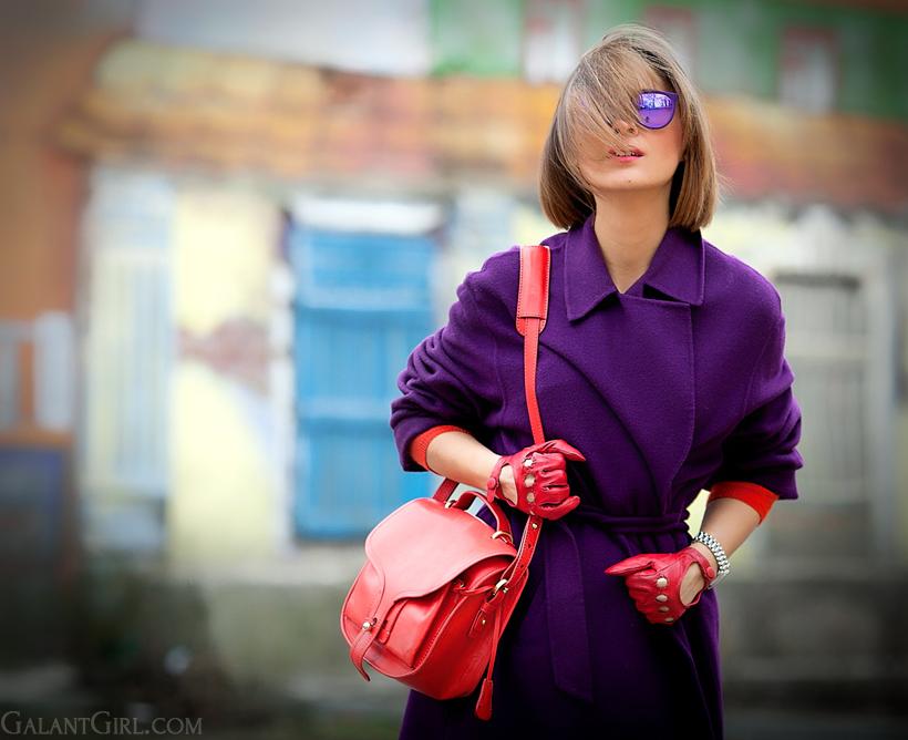 purple max mara wool coat