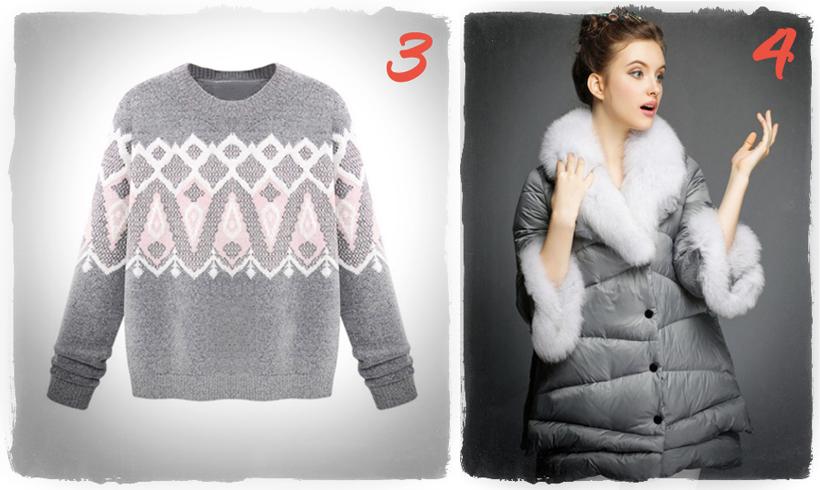 warm winter Choies coat