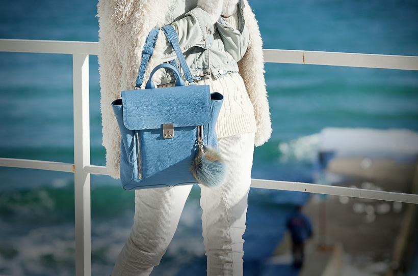 3.1 phillip lim blue pashli backpack