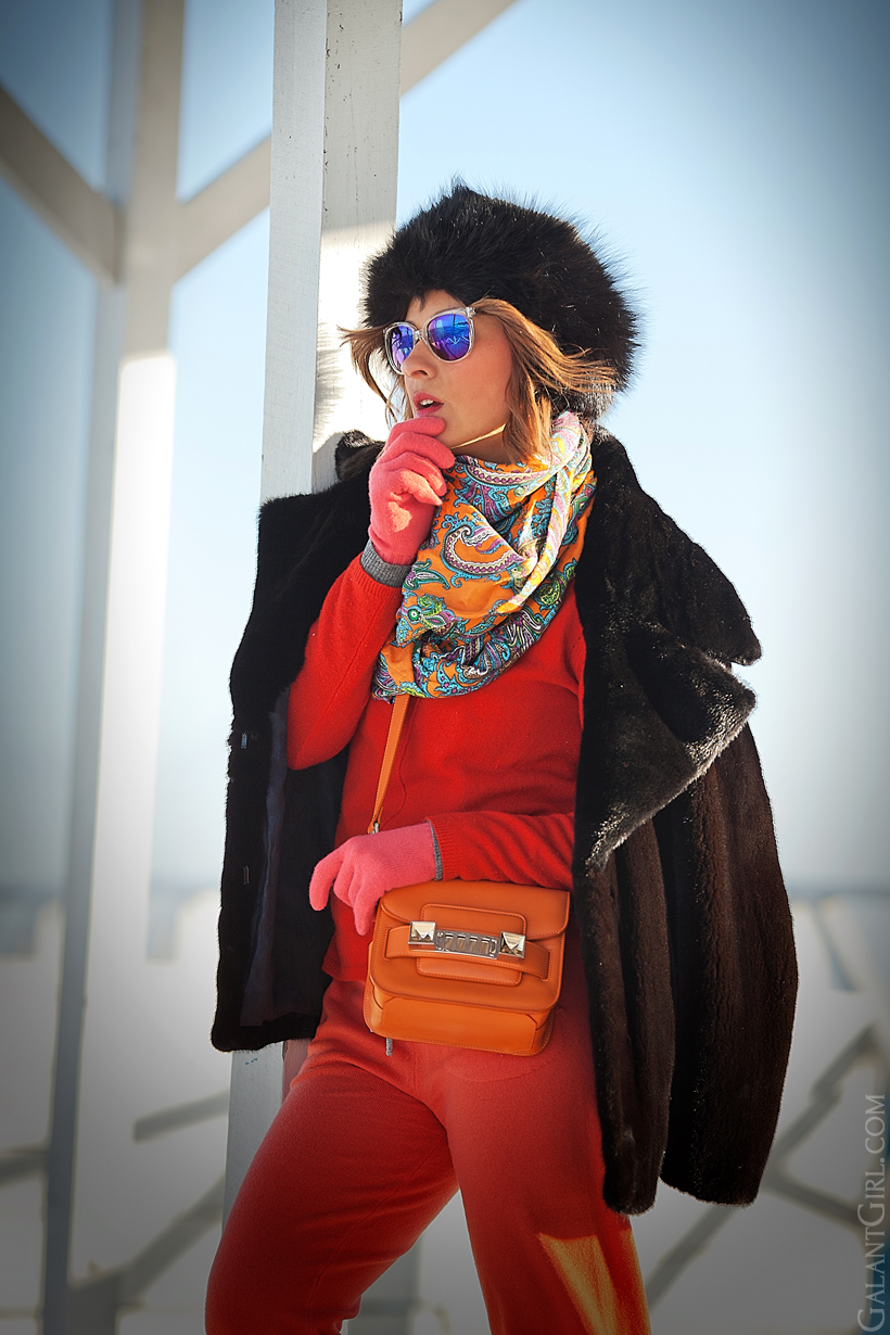 warm winter outfit, winter outfit, cold days outfit, fur winter outfit, galant girl,