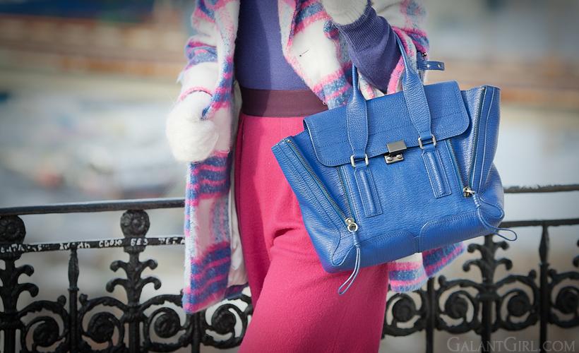 3.1 Phillip Lim blue pashli satchel