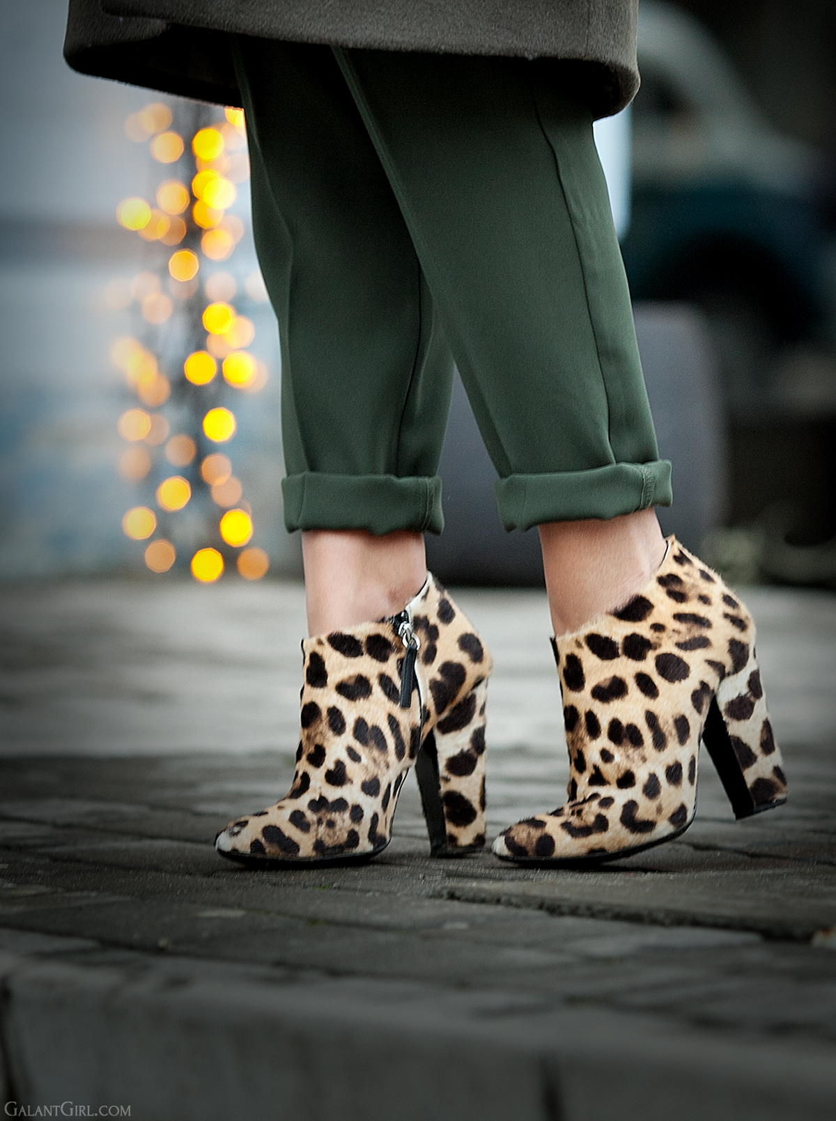 leopard print booties by casadei