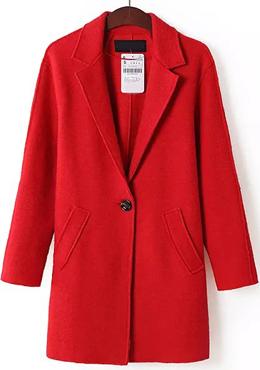SHEINSIDE  Red Coat