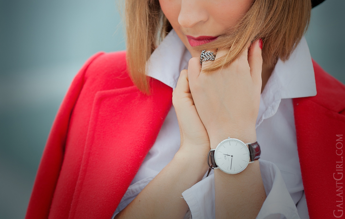 daniel wellington watch, galant girl