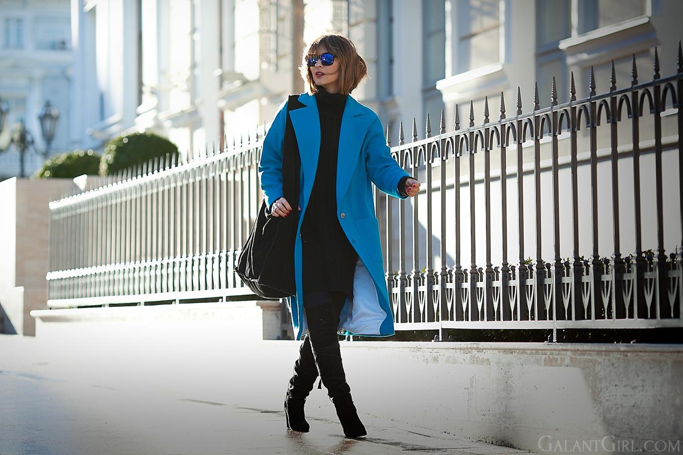 blue Cooper & Stollbrand wool coat