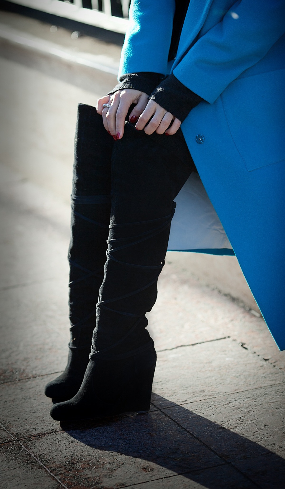 suede over the knee boots Shy