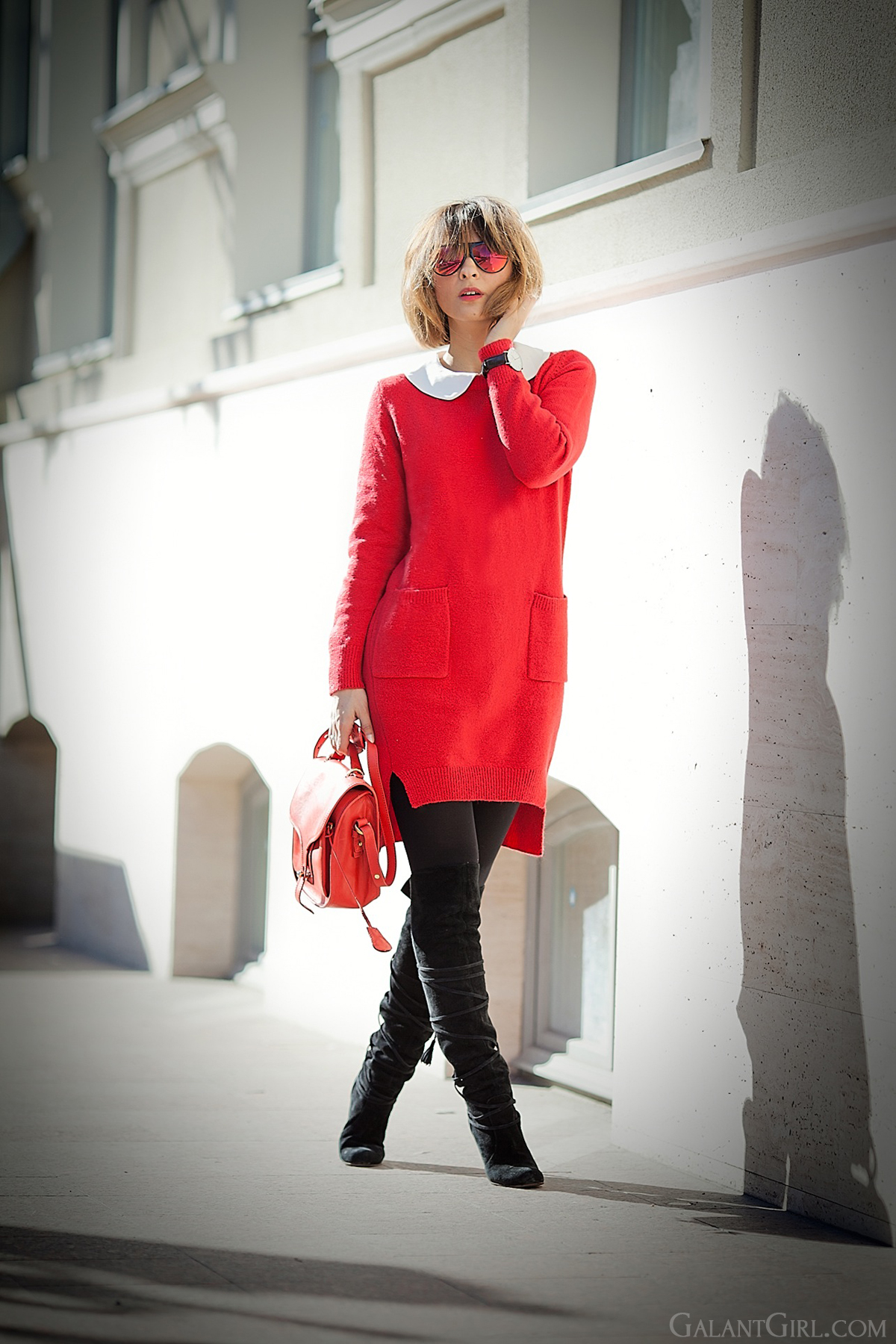 knit dress, galant girl, opening ceremony bag, ukrainian fashion blog,