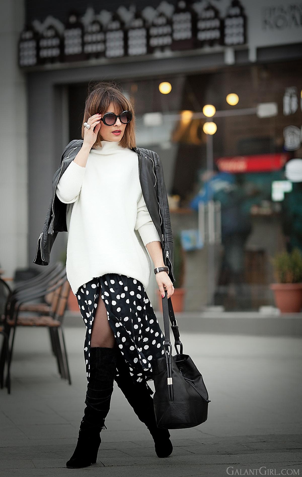 polka dot skirt on GalantGirl.com