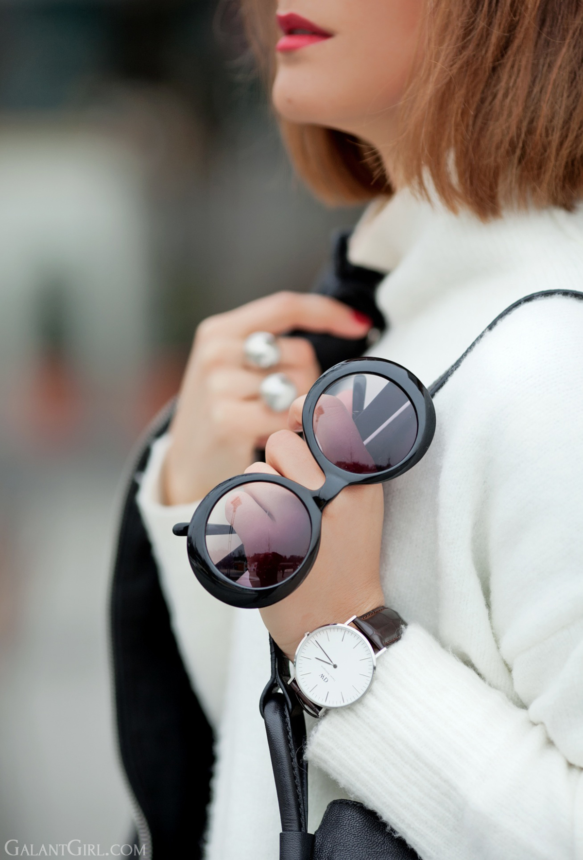 cutler and gross round sunglasses on GalantGirl.com