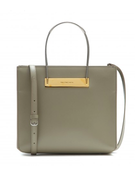 Cable shopper leather tote