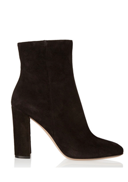 GIANVITO ROSSI Suede heeled booties
