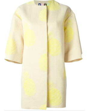 MSGM Pineapple Print coat