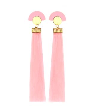 SUZYWAN DELUXE Pink Tassel earrings