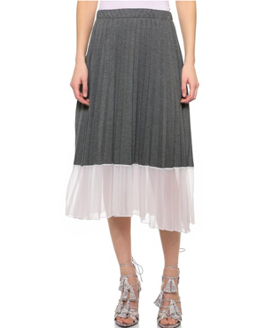 OTTO D'AME Desiree Pleated Skirt