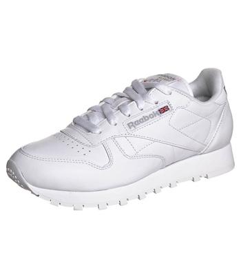 REEBOK Retro white leather trainers