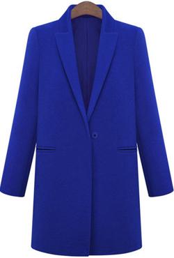 Lapel long woolen coat
