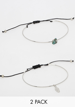 ASOS pack of two bracelets
