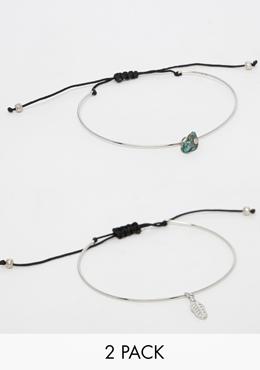 ASOS pack of two bracelets