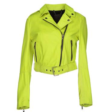 MUUBAA Lime green Leather jacket
