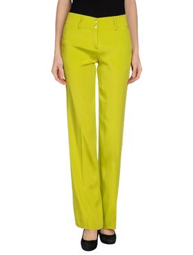 BLUMARINE lime green trousers