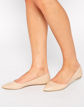 LONDON REBEL nude flat shoes