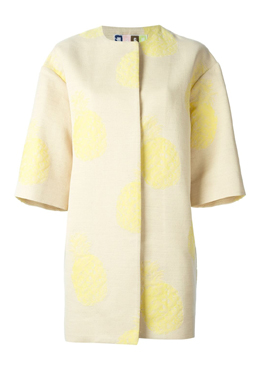 MSGM Pineapple Print Coat