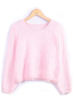 Shaggy crop sweater