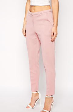 ASOS Cigarette trousers in texture