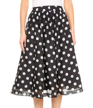 J.O.A. Polka Dot Full Skirt