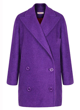 Double-Breasted Purple Coat