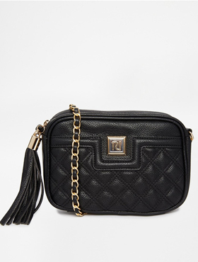 RIVER ISLAND quilted mini cross body bag