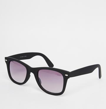 Matt Black Wayfarer Sunglasses