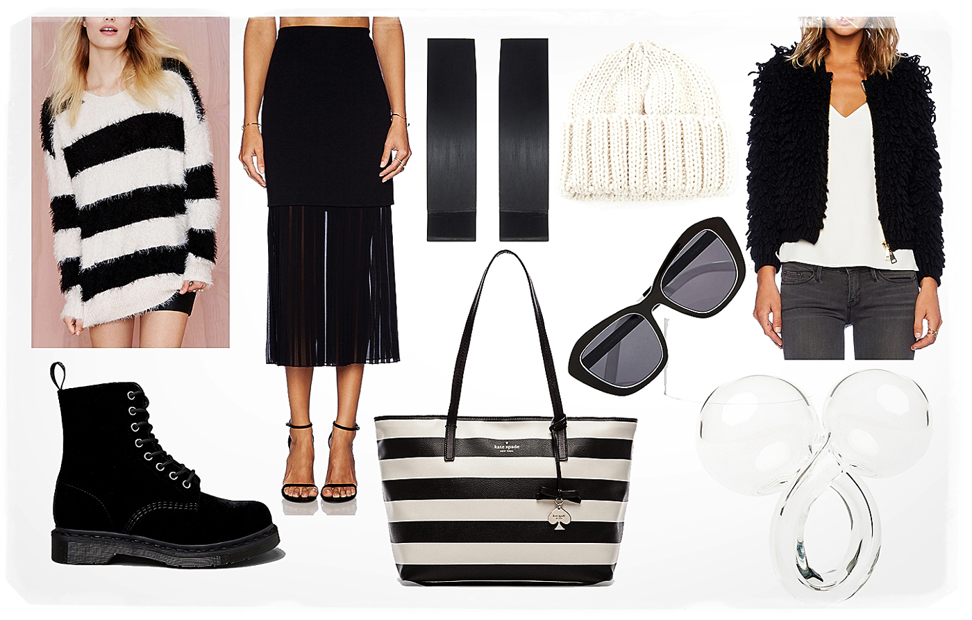striped outfit for spring 2015
