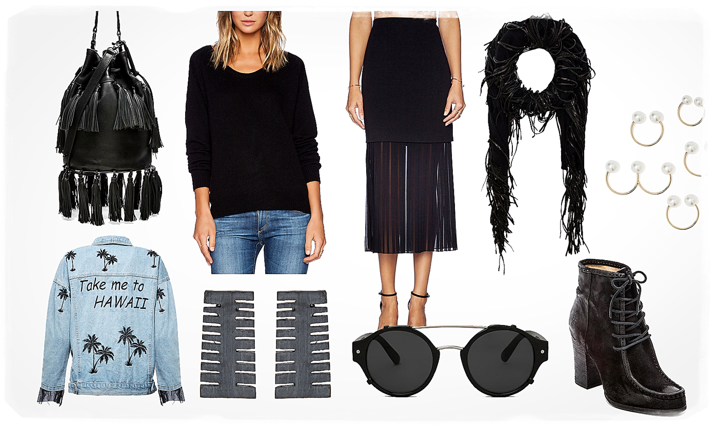 fringe trend outfit for spring 2015