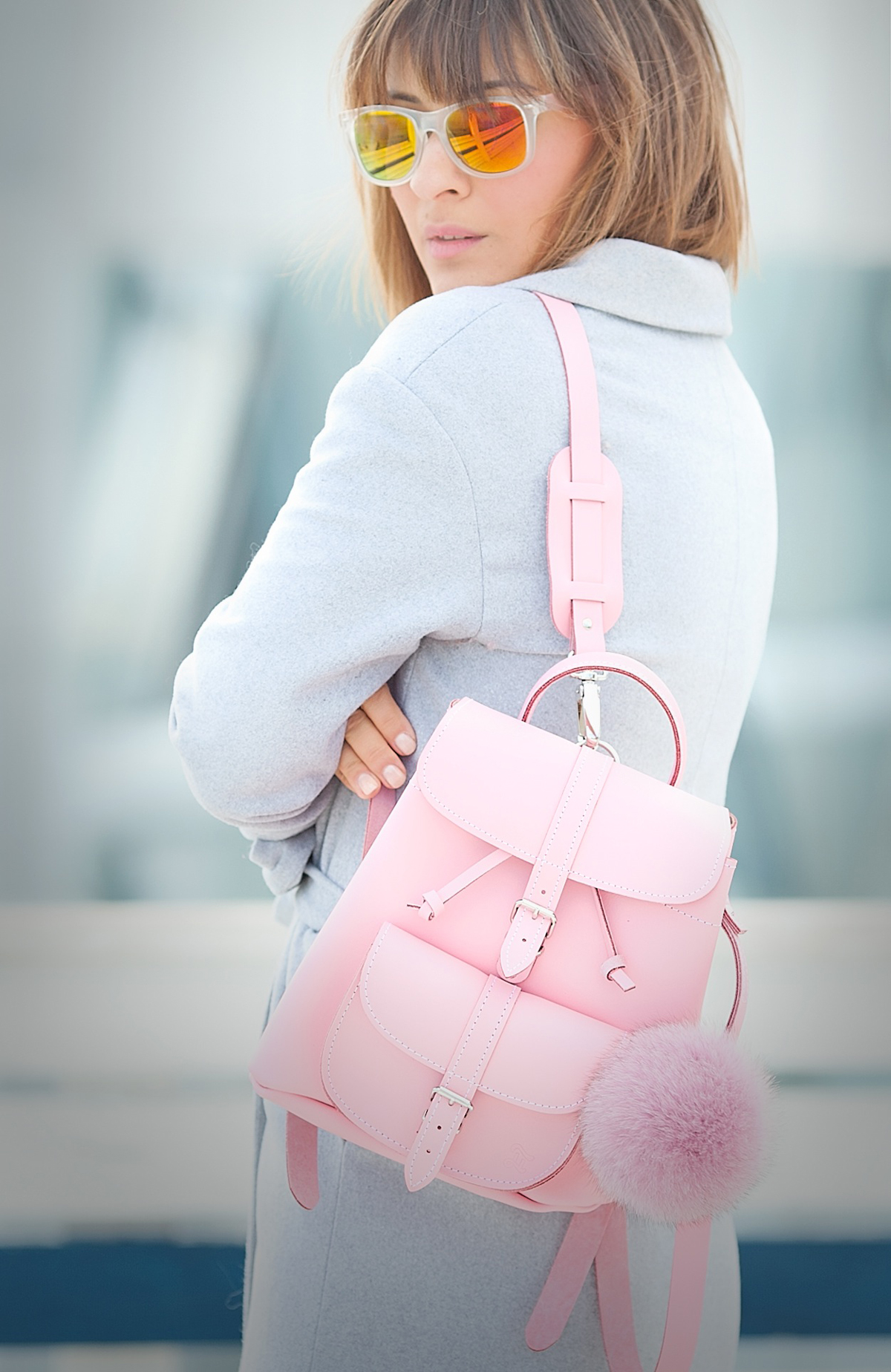 grafea pink mini backpack, galant girl,