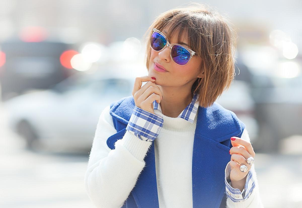 vans blue sunglasses on GalantGirl.com