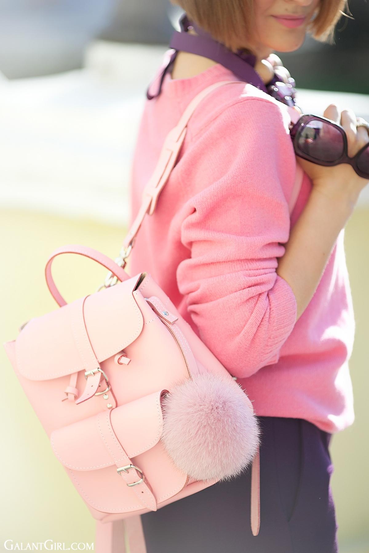 grafea pink mini backpack on GalantGirl.com