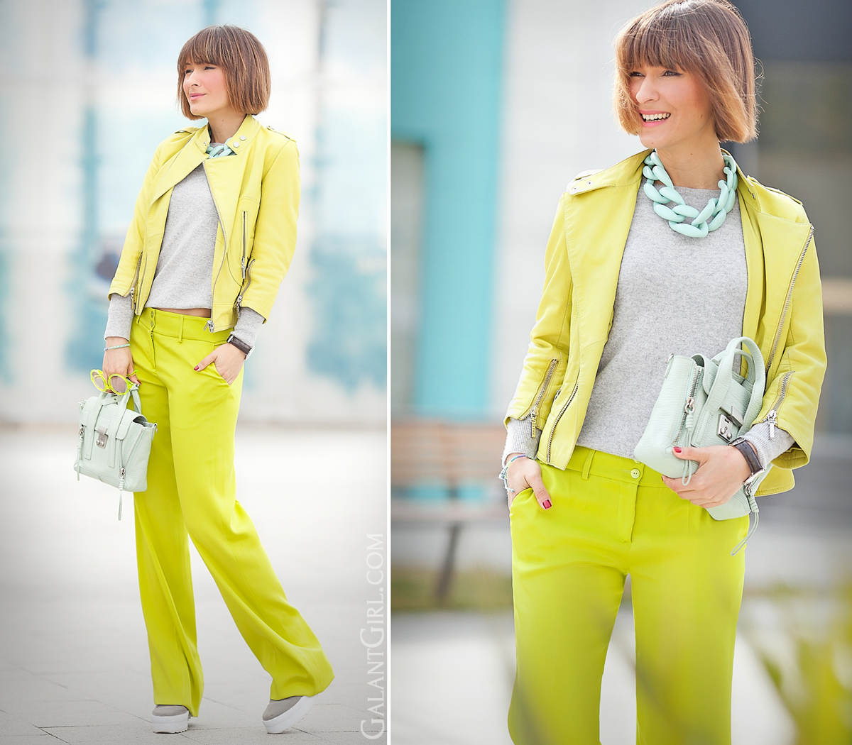 lime green colors outfit for spring on GalantGirl.com