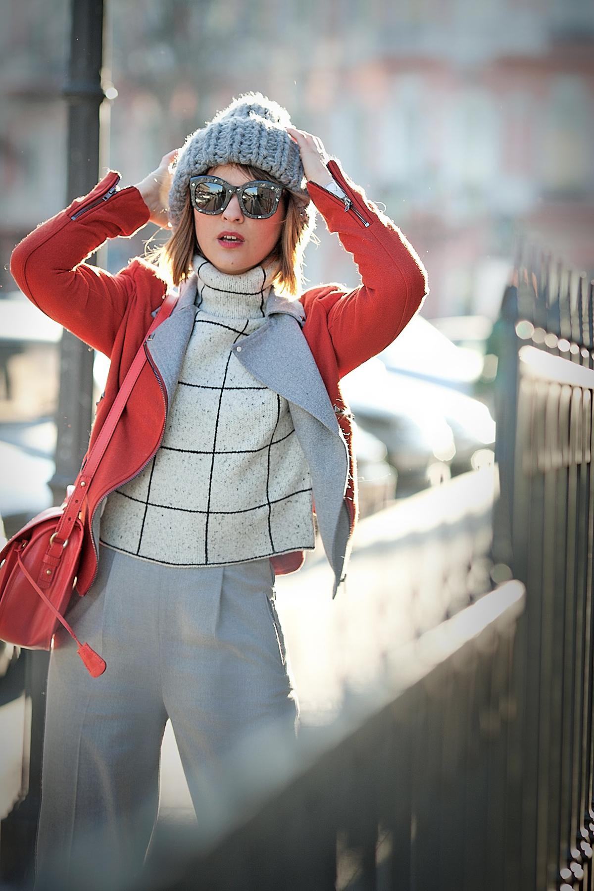 kuboraum sunglasses, galant girl, opening ceremony, whistles trousers, wool biker jacket,