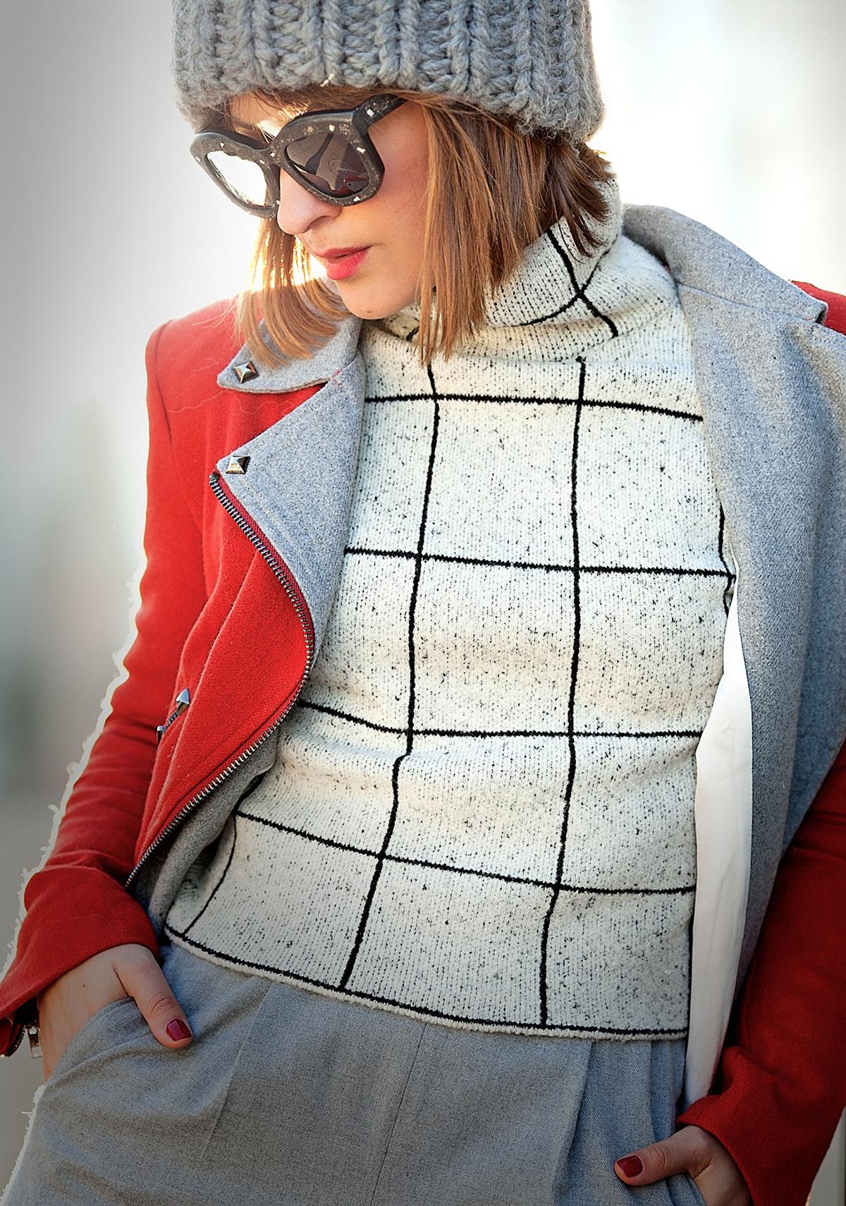 sheinside sweater, galant girl, kuboraum sunglasses,