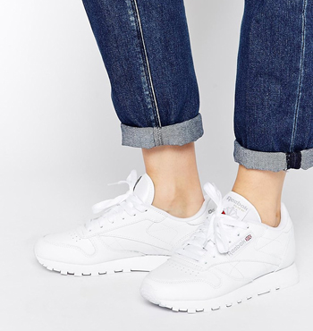 REEBOK Classic White Leather Trainers