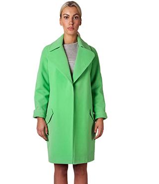 Green coat I'll BE BACK