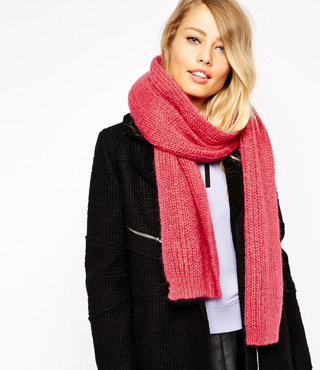 Whistles Mohair Mix Knitted Scarf
