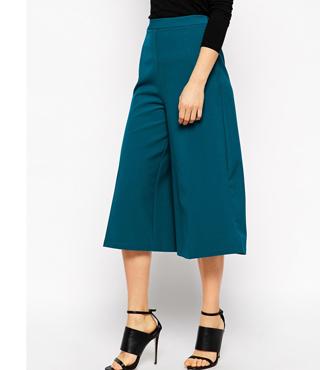 ASOS Premium Culotte With Wide Leg