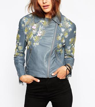ASOS Biker Jacket with Embellished Yoke