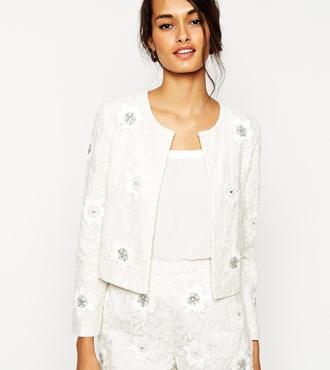 ASOS Embellished Lace Jacket co-ord