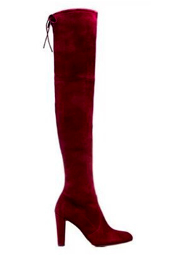 Stretch Suede Heeled Over the Knee Boots
